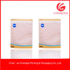 Cina Sealable Zippered Clothing Packaging Bags Untuk Sock / Glove / Underwear Packing pemasok