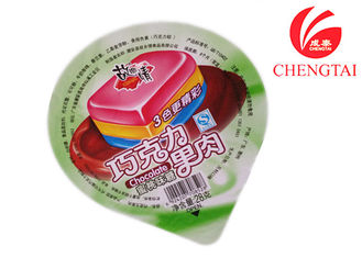 Cina Costum Printed Cup Sealing Film For Jelly Pakaging In Retail Shop pemasok