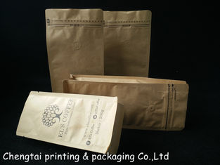 Cina 200 G Three Layers Small Brown Paper Bag Packaging With Zipper And Valve pemasok
