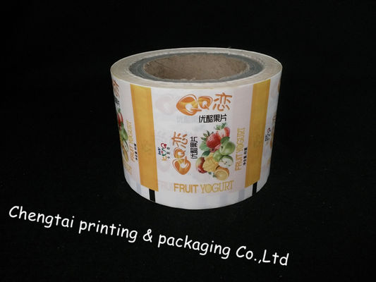 Cina Yogurt Factories Use Rollstock Film Non Leakage Plastic Rolls For Packaging pemasok