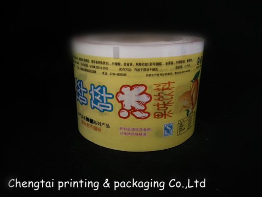 Cina Yellow Frozen Food Printed Film Packaging / Soft Flexible Plastic Film pemasok