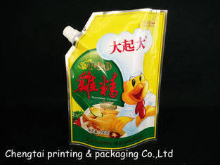 Cina Spice Packaging Stand Up Pouch With Spout / Plastic Doypack Pouch Spouted Pouches pemasok