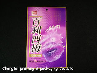 Cina Printed Packaging food three side seal pouches with hang hole pemasok
