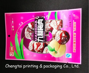 Cina Plastic Dried Fruit Bags With Tear Notch Dried Fruit Packaging Pouches pemasok