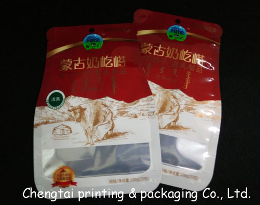 Cina Semi Aluminum Recyclable Shaped Pouches Food Packaging Bags With Tear Notch pemasok