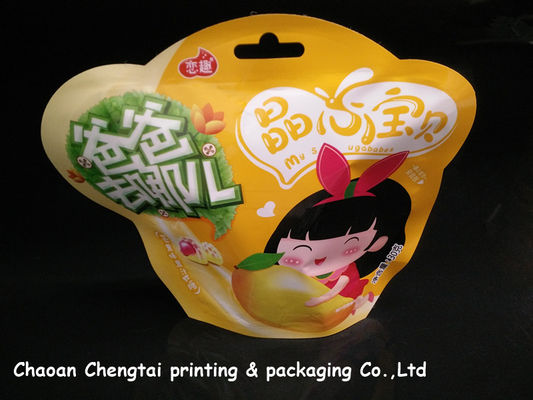 Cina Children Food Packaging Shaped Pouches With Metallic Inside QS Certification pemasok