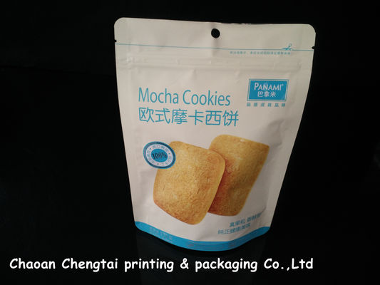 Cina Cookies UV Surface Stand Up Packaging Pouches With Zipper 0 - 9 Colors QS pemasok