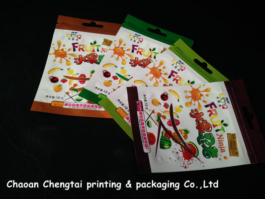 Cina Small Plastic Dried Fruit Bags / Three Side Seal Pouch Food Grade Material pemasok