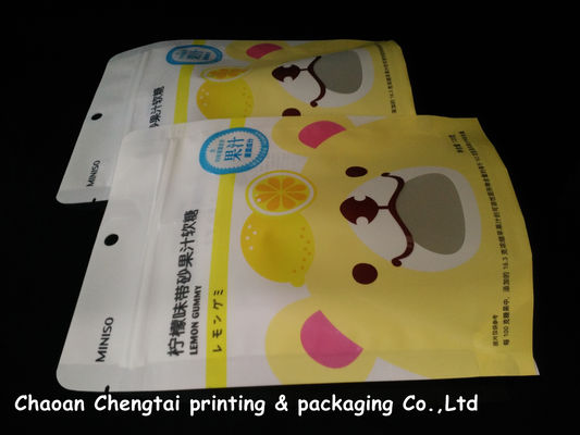 Cina Food Grade Stand Up Zipper Pouch / Packaging Bags Portable Gravure Printing pemasok