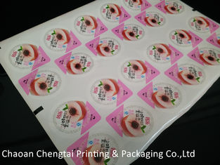 Cina Laminated Printing Cup Sealing Film Three Layers For Jelly / Juice / Yogurt pemasok