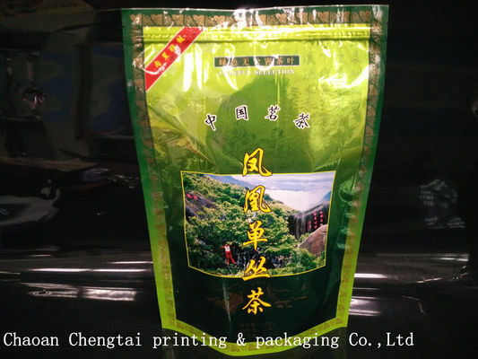 Cina Custom Printed Stand Up Pouches For Coffee / Tea With Zipper , 20-200micron Thickness pemasok