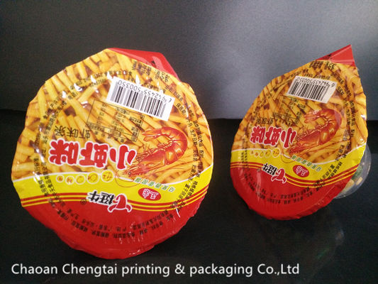 Cina Peelable Food Grade Cup Sealing Film / Sealing Plastic Cup Lid Film For Snack pemasok