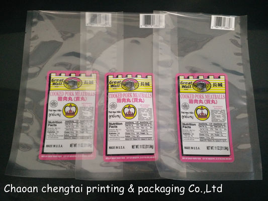 Cina Customized Retort Pouches Pork Meatballs Vacuum Packaging Bag 0 - 9 Colors pemasok