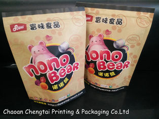 Cina Self Standing Candy Packaging Paper Bags dari Kraft Paper Laminated pemasok