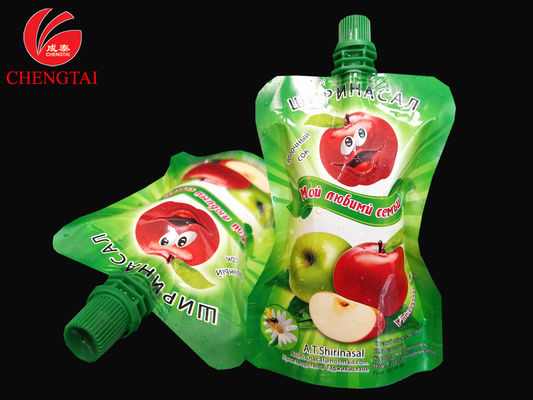 Cina Food Grade Stand Up Pouch With Spout / Reusable Liquid Packaging Bag pemasok