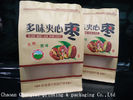 Cina Dry Fruit Flat Bottom Plastic Bags / Non Toxic Paper Packaging Pouch W20*H30 pabrik