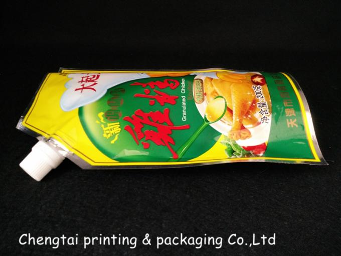 Spice Packaging Stand Up Pouch With Spout / Plastic Doypack Pouch Spouted Pouches
