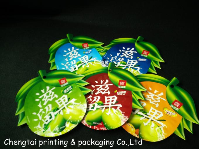 Custom Shaped Pouches Heat Sealing Reusable Snack Bags Eco Friendly