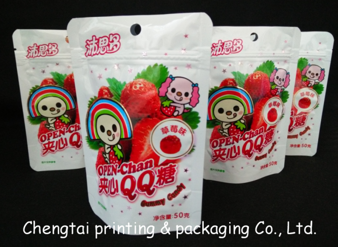 BOPP Plastic Resealable Snack Packaging Pouches for Fruit Snack
