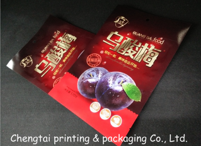 Three Layers Dried Fruit Packaging Bags Heat Seal Low Temperature Resistance