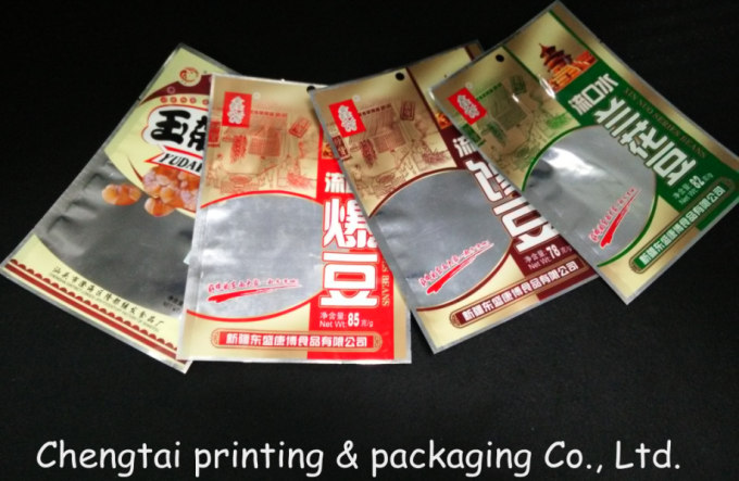Economic Flexible Snack Packaging Bags / Semi Transparent Food Packaging Pouches