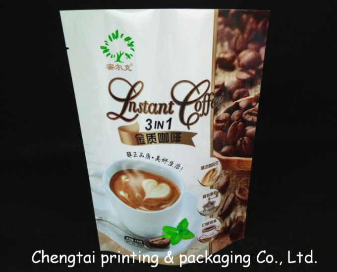 Aluminum Non - Leakage Coffee Packaging Bags Light Resistant Plastic Coffee Bags
