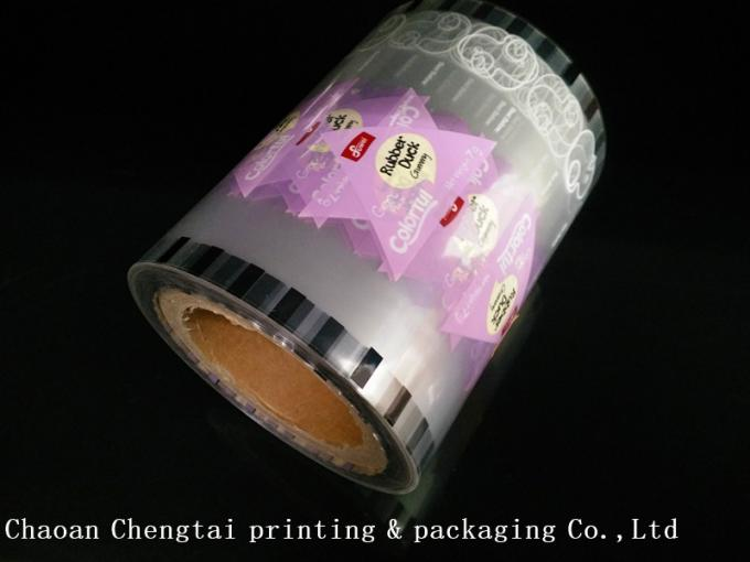 Transparent Roll Stock Film Packaging Film For Fruit Candy / Gummy Candy