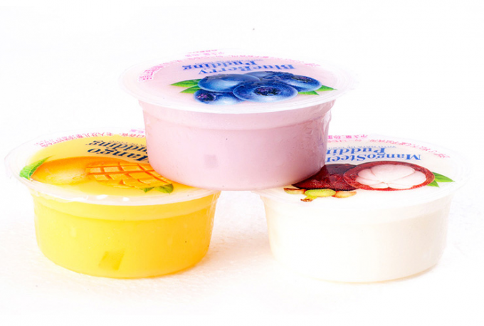 Laminated Printing Cup Sealing Film Three Layers For Jelly / Juice / Yogurt
