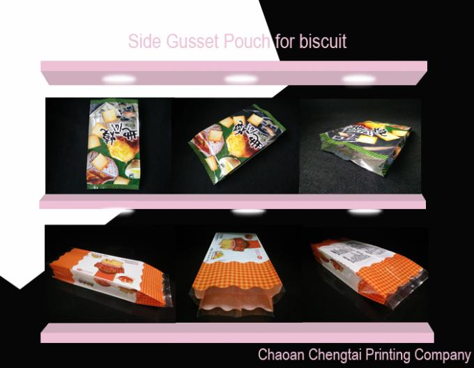 Heat Sealable Food Packaging Pouches / Custom Order Bread Packaging Pouch