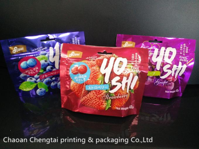 Colorful Printing Plastic Snack Food Bags for Gummy Candy / Fruit Candy