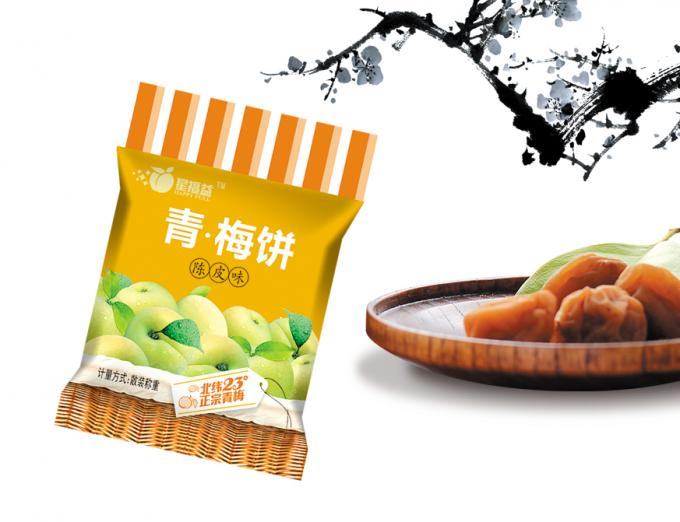 Flexible Dried Fruit Bags Heat Sealable Plastic Packaging Bags 68g For Dry Fruit