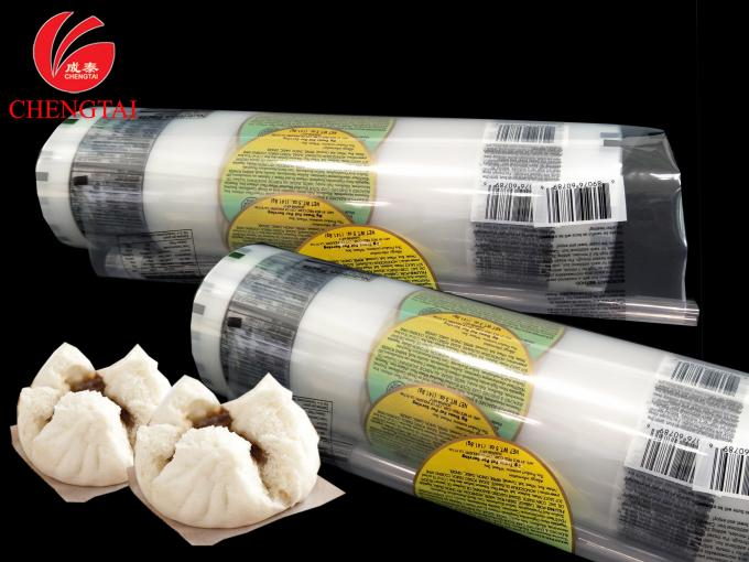 Laminated Plastic Film / PET + PE Food Packaging Film For Pork Bun