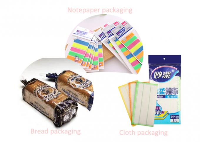 Bopp Material Food Packaging Pouches / Clear Self Seal Bag with Different Size