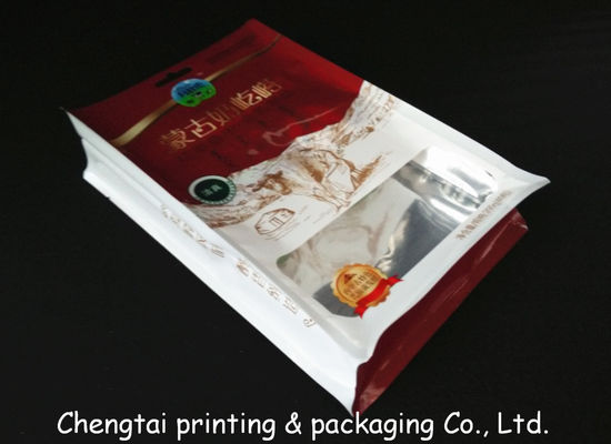 Cina Food Grade Heat Sealable Flat Bottom Bags For Dried Food / Snack Food Packaging Distributor