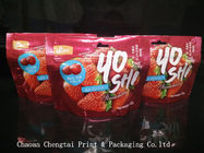 Snack Food Packaging Bags For Fruit Jelly/ 42g Stand Up Custom Printed Bags With Zipper
