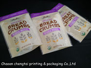 9 Oz  255g Stand Up Zipper Pouch Bag For Bread Crumbs / Wheat Packaging